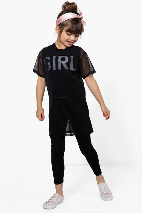 Girls 2 Piece Mesh Set