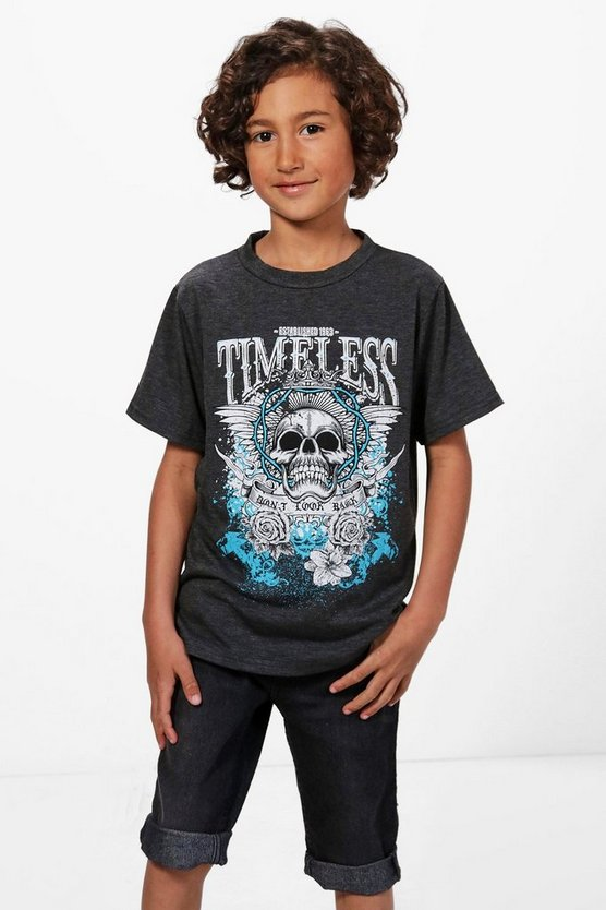Boys Skull Rock T-Shirt