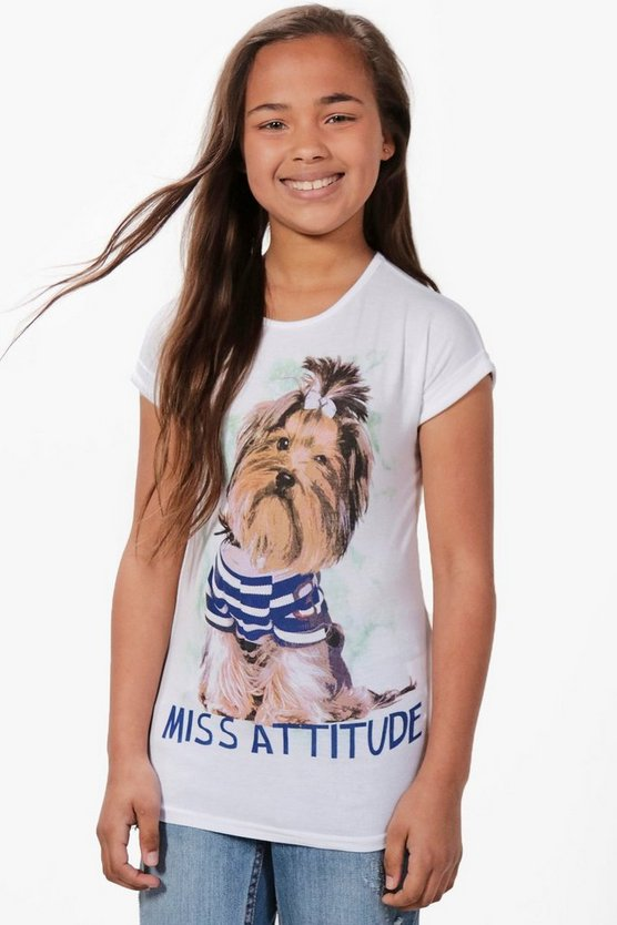 Girls Miss Attitude Tee