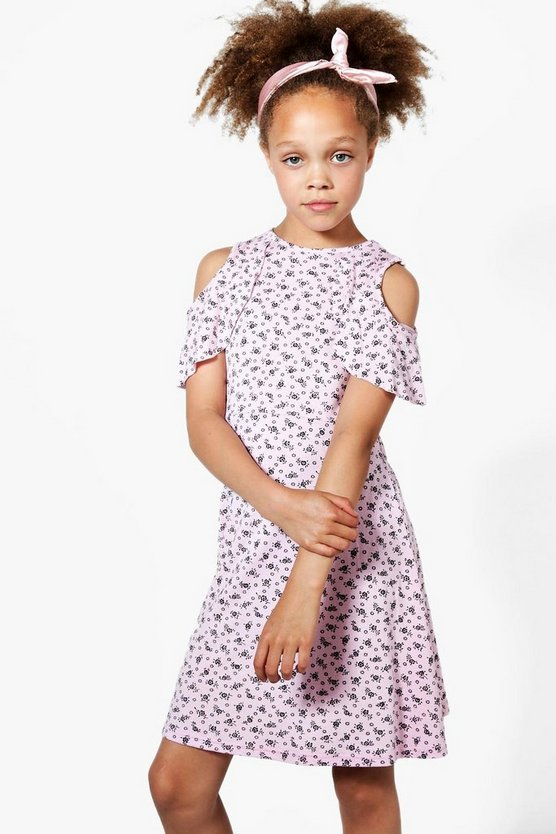 Girls Ruffle Detail Swing Dress