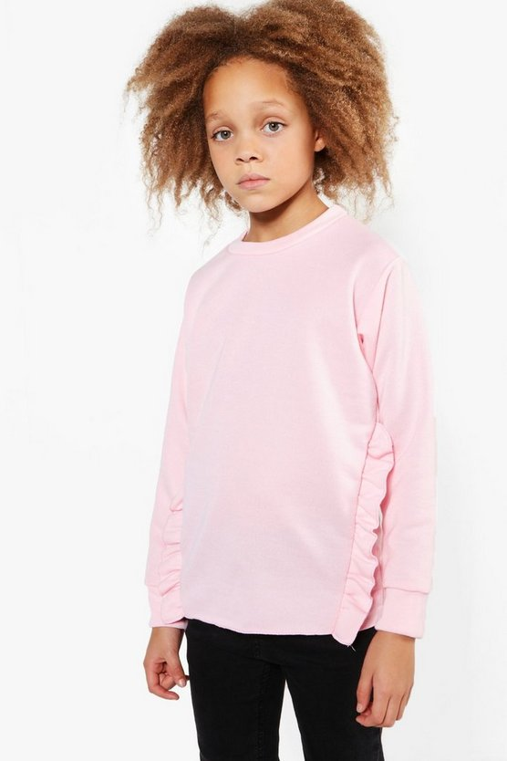 Girls Ruffle Detail Sweat Top