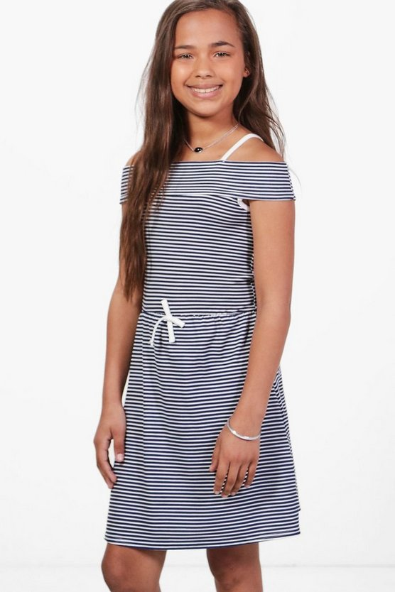 Girls Bardot Jersey Stripe Dress