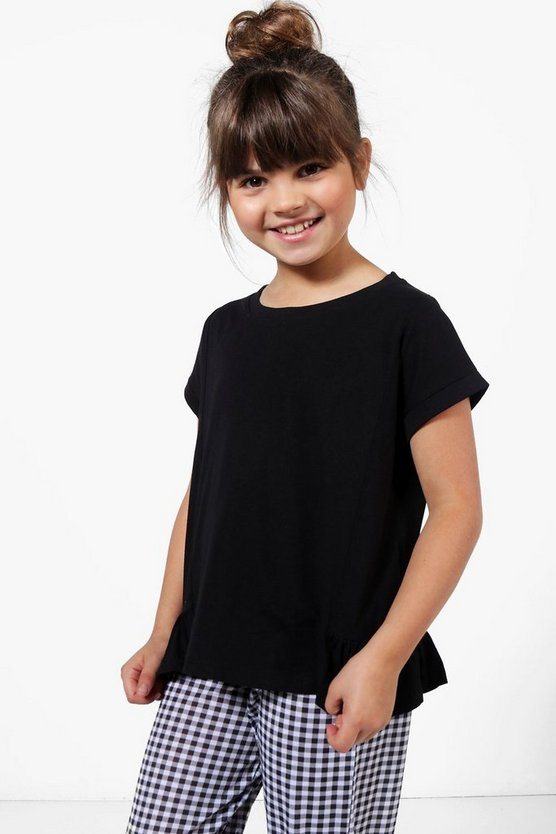 Girls Side Peplum Tee