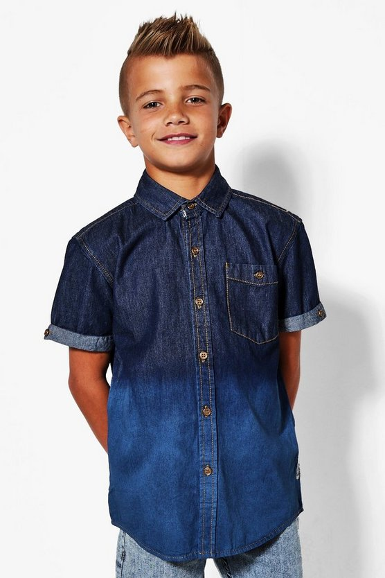 Boys Tie Dye Denim Shirt