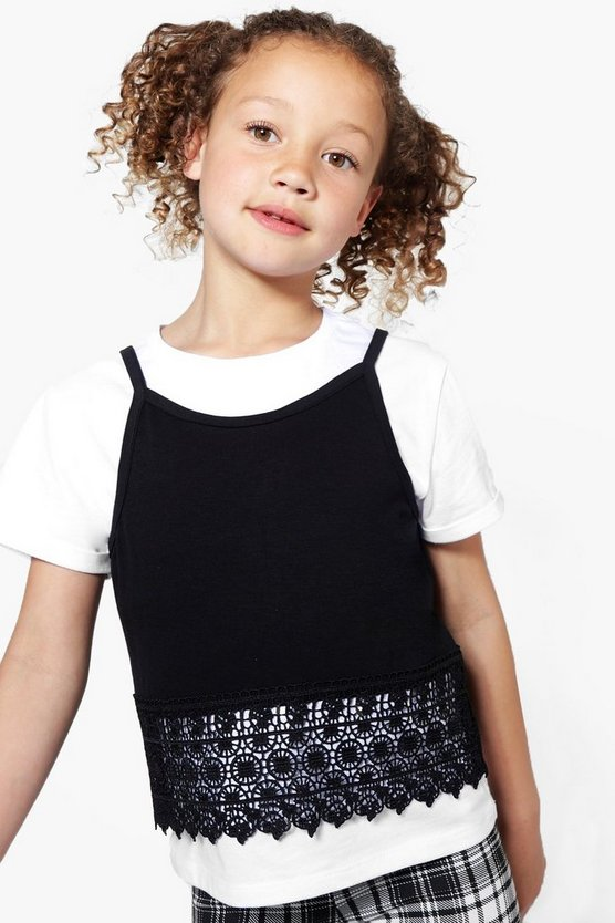 Girls Two Piece T-Shirt & Vest Set
