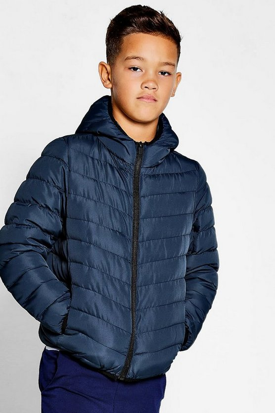 Boys Padded Hooded Coat