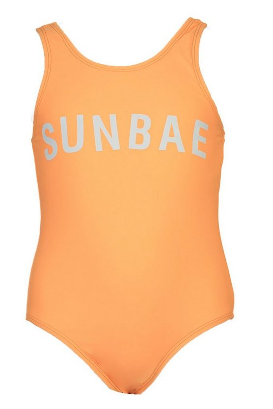 Girls Sunbae Slogan Swimsuit