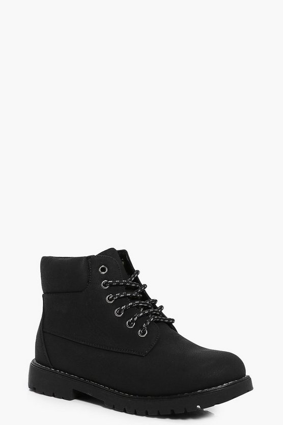 Boys Lace Up Biker Boot