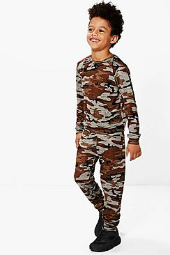 Boys Camo Tracksuit Set