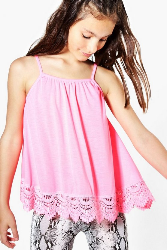 Girls Lace Hem Swing Vest