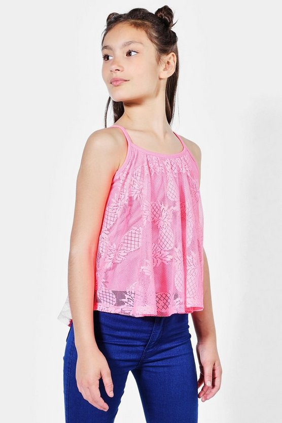 Girls Pineapple Lace Swing Vest