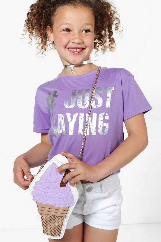 "camiseta ""just saying"" para niña"