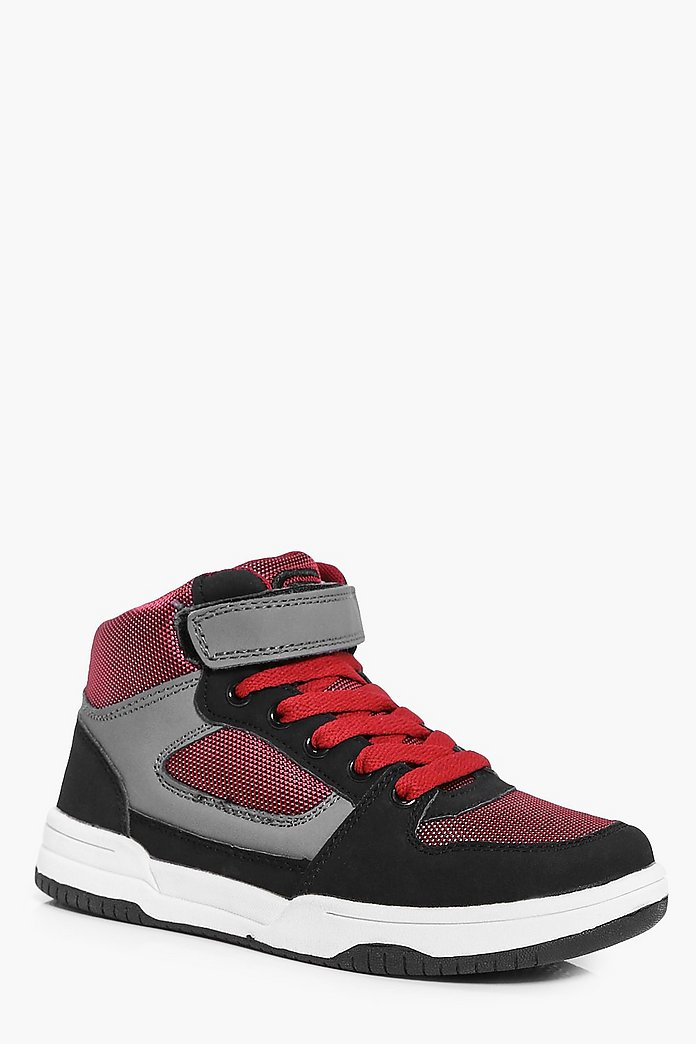 Boys Sports Strap High Top
