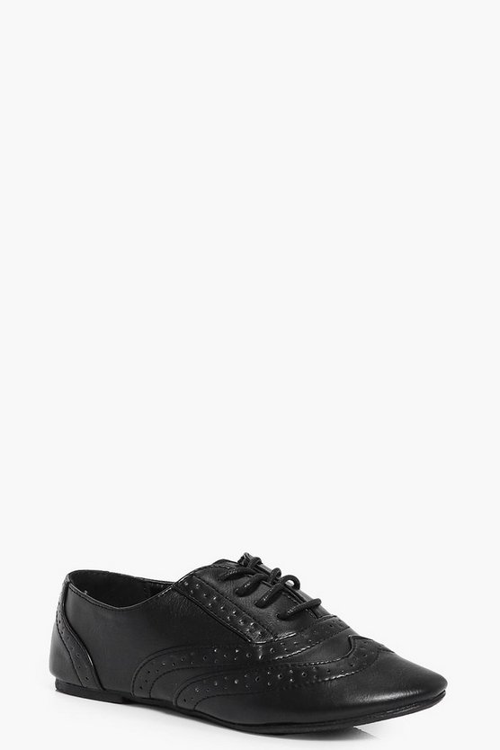 Girls Lace Up Brogue
