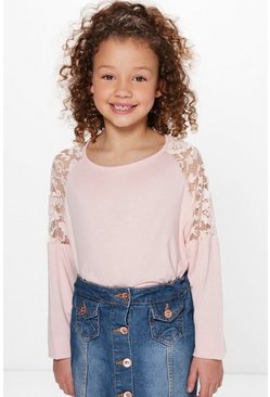 Girls Lace Sleeve Top