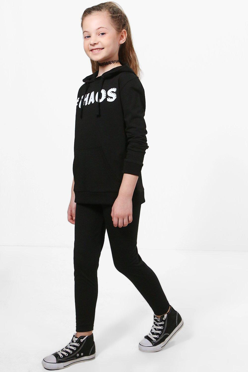 Girls Basic Leggings black