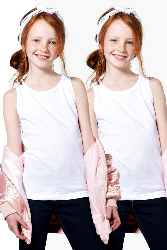 Girls Vest 2 Pack