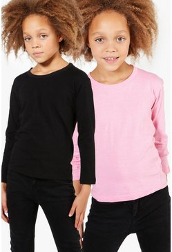 Girls 2 Pack Long Sleeve Top