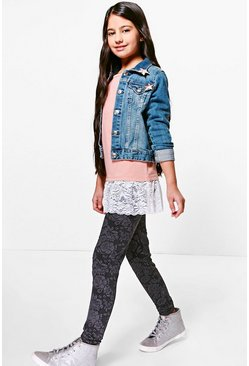 Girls Jacquard Legging