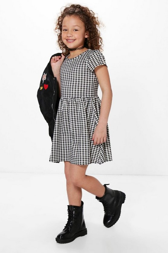 Girls Gingham Skater Dress