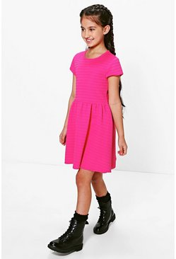 Girls Ribbed Skater Dress