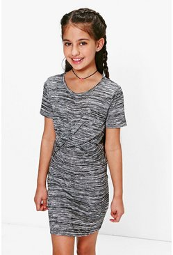 Girls Knitted Knot Front Dress