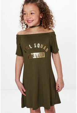 Girls Squad Forever Bardot Skater Dress