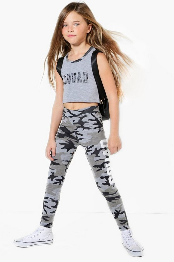 Girls Camo Squad Sports Set