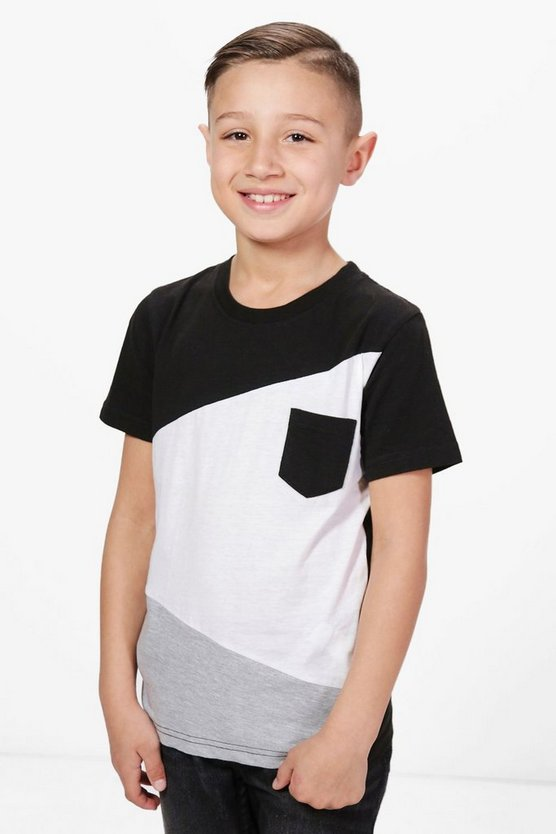 Boys Splice Colour Block Tee