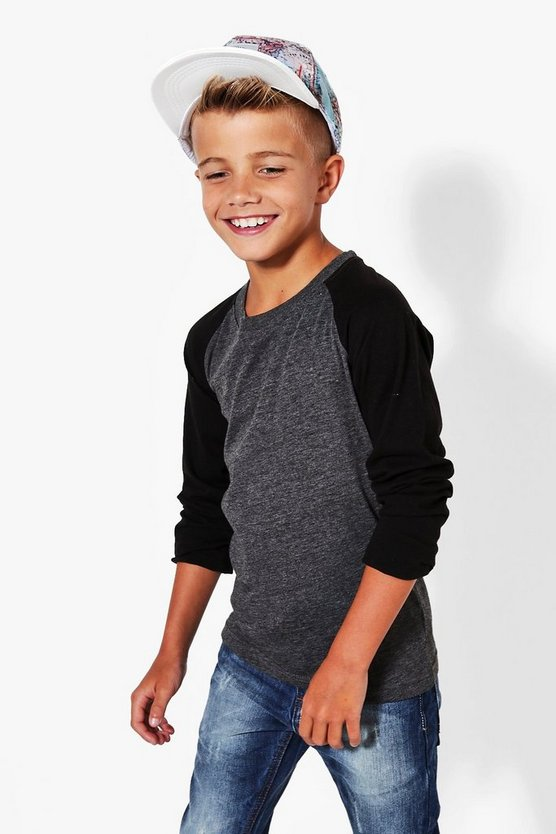 Boys Long Sleeve Raglan Top