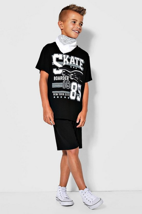 Boys Skate Tee & Jersey Short Set