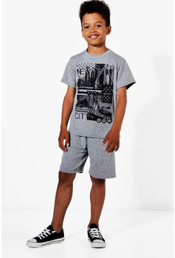 Boys New York Tee & Jersey Short Set
