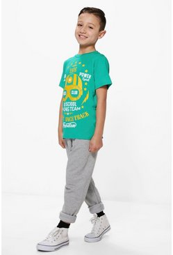 Boys Race Track T-Shirt & Jogger Set