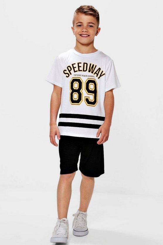 Boys Speedway 89 T-Shirt & Jersey Shorts Set