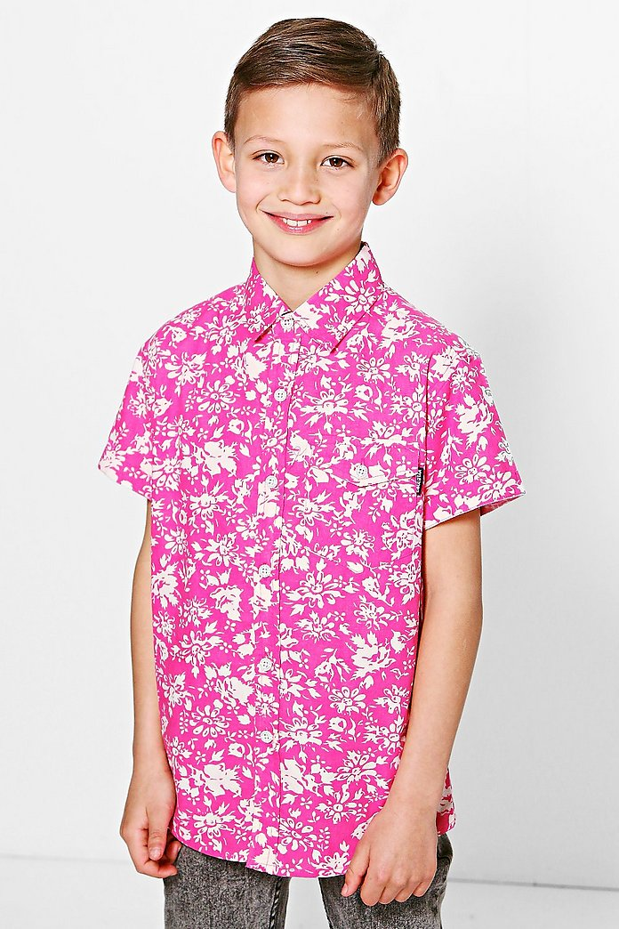 Boys Floral All Over Print Shirt