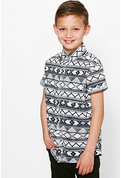 Boys Aztec Printed Shirt