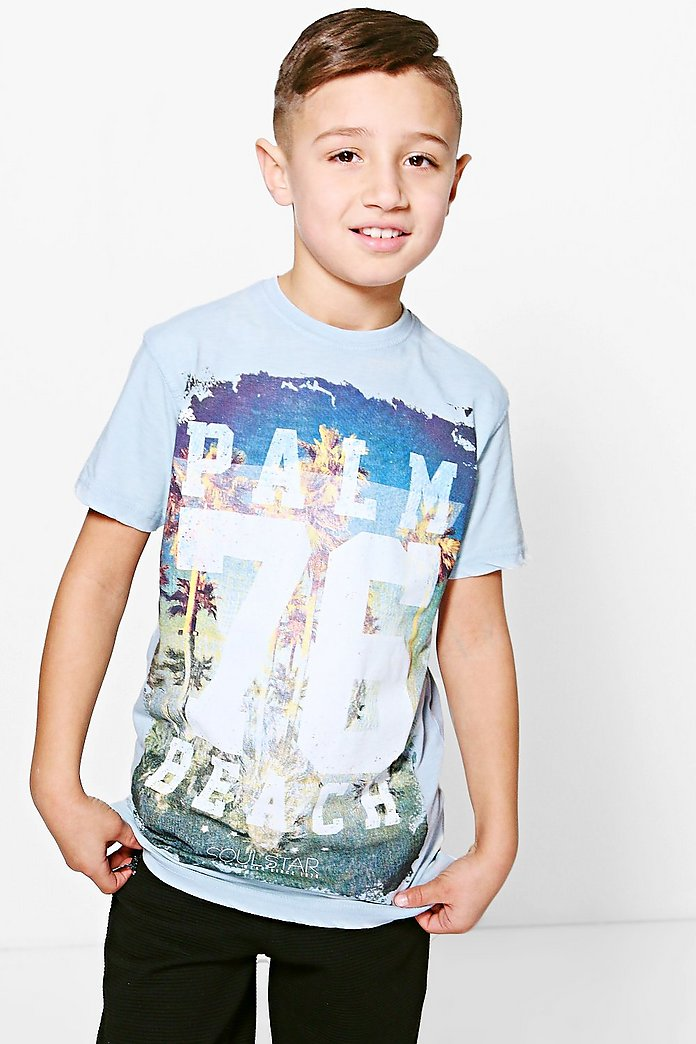 Boys Palm 76 Beach Tee