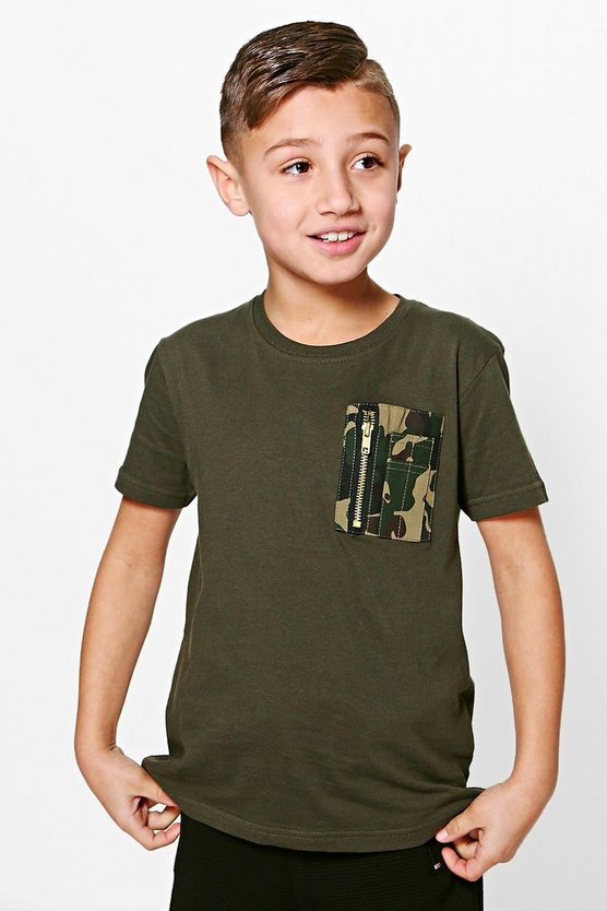 Boys Pocket Detail Tee