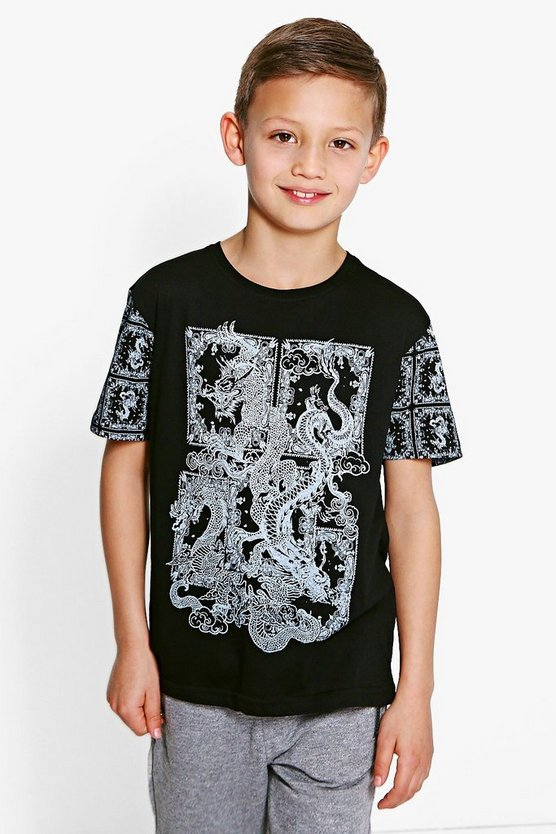 Boys Dragon Printed Tee