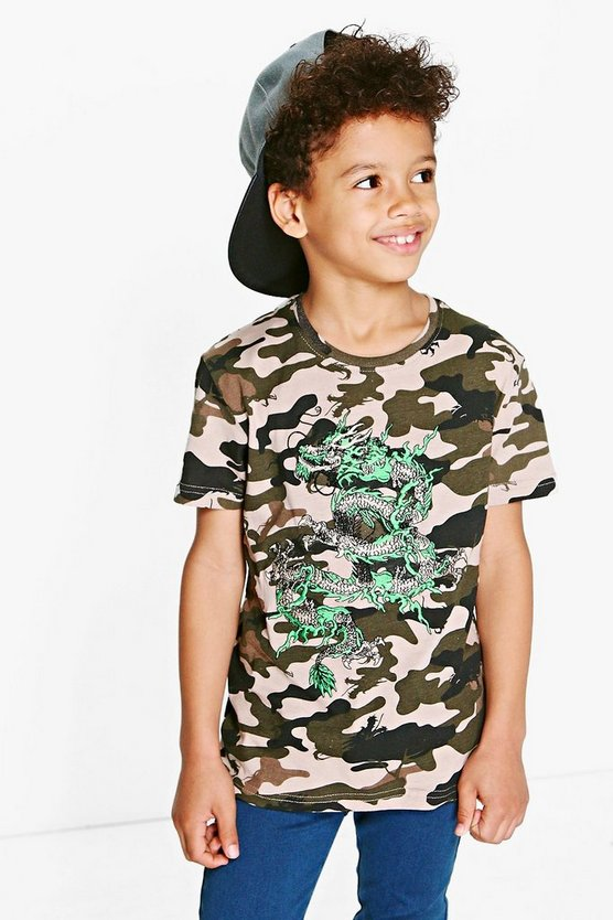 Boys Camo Embroidered Tee