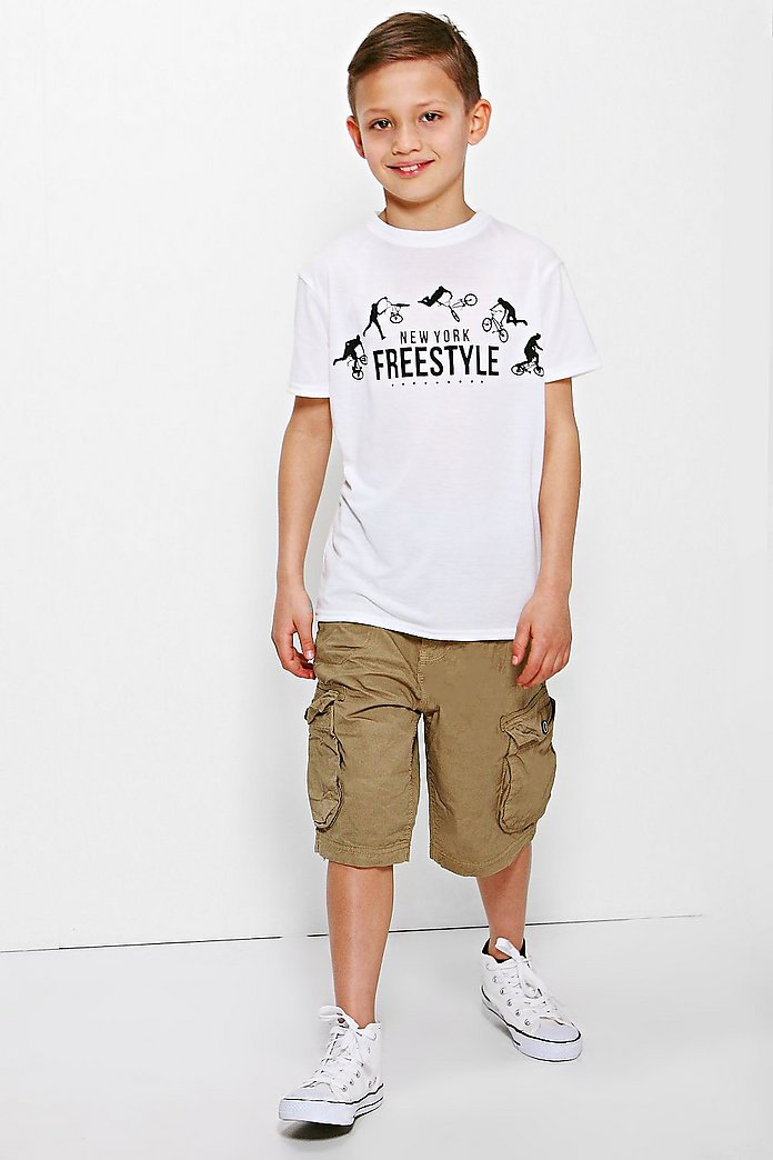 Boys Cotton Twill Cargo Shorts
