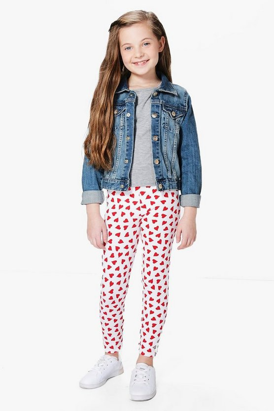 Girls All Over Heart Leggings