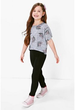 Girls Unicorn Tee & Legging Set