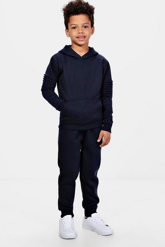 Boys Biker Detail Jogger Set