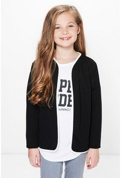 Girls Contrast Binding Blazer