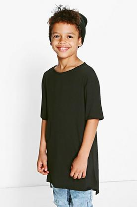 Boys Long Line Round Neck Tee