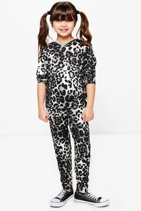 Girls Animal Hooded Hareem Set