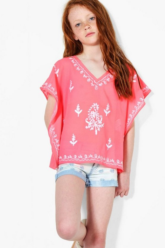 Girls Embroidered Kaftan