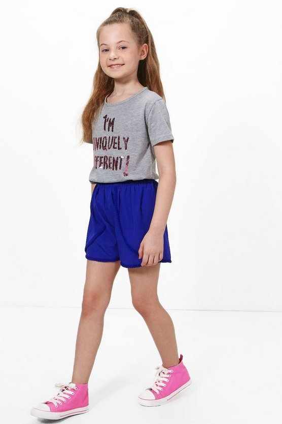 Girls Pom Pom Runner Shorts