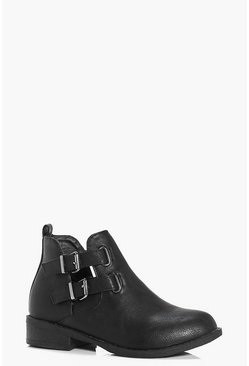 Girls Buckle Trim Chelsea Boot